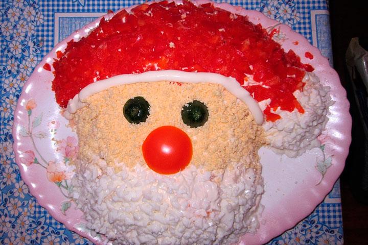 Дед мороз салат рецепт с