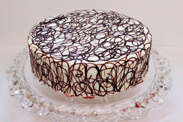 Шоколадные кружева на торт как сделать - Раум Профи
