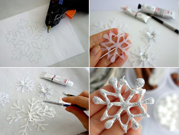 Украшения на новый год снежинки своими руками