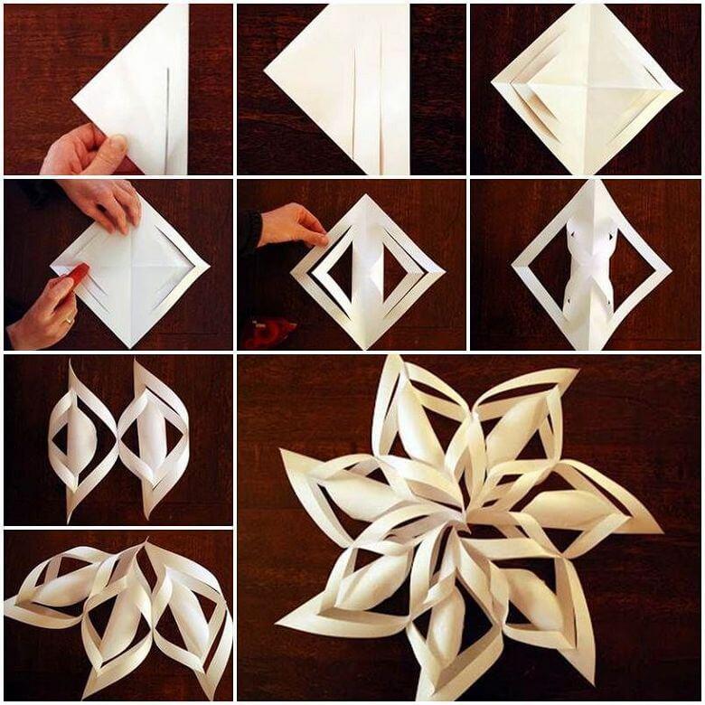 Бумажные изделия из бумаги на новый год