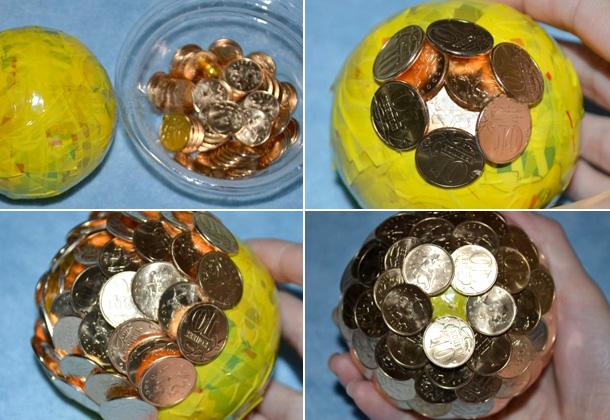 Топиарий из монет