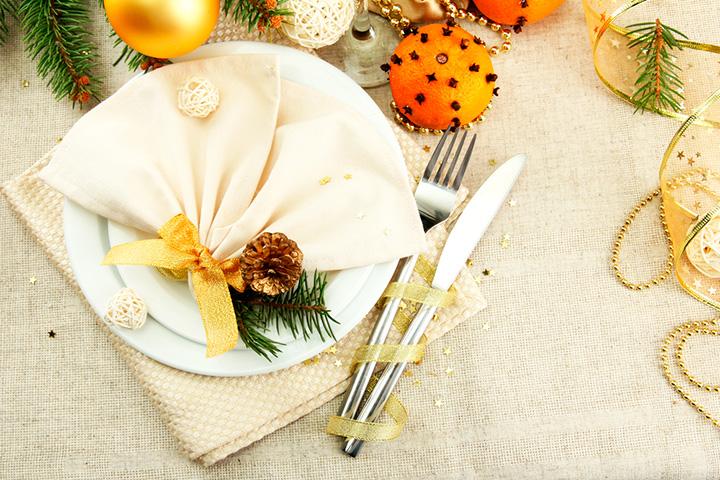 Как накрыть стол на Новый год 3