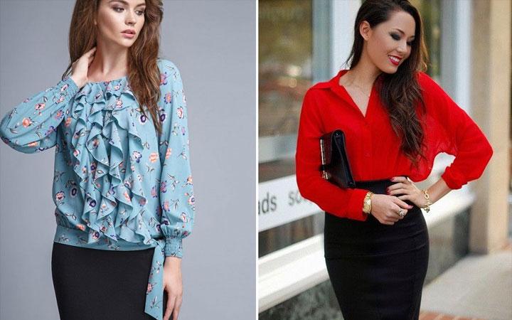 Модные блузки осень-зима 2017-2018 года 22