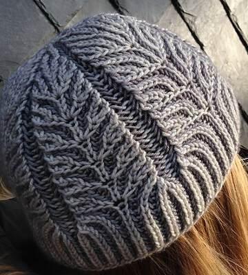Модные вязанные шапки осень-зима 2019-2020 для женщин 10