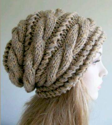 Модные вязанные шапки осень-зима 2019-2020 для женщин 15