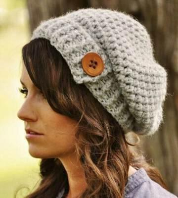 Модные вязанные шапки осень-зима 2019-2020 для женщин 25