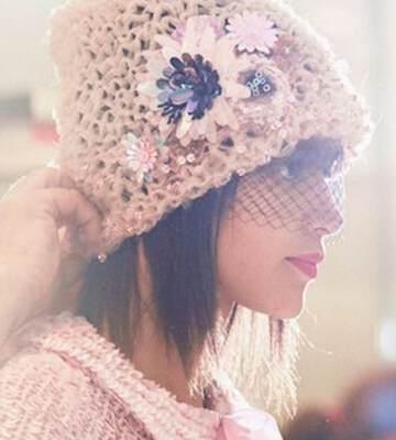 Модные вязанные шапки осень-зима 2019-2020 для женщин 31