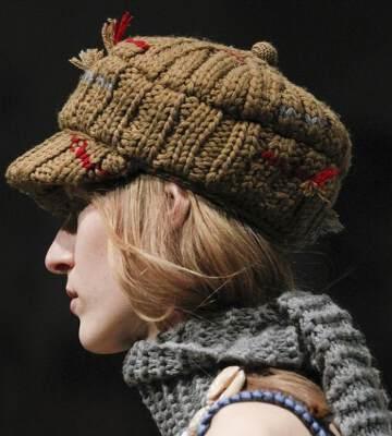 Модные вязанные шапки осень-зима 2019-2020 для женщин 39