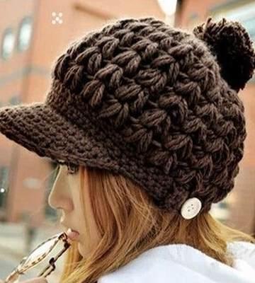 Модные вязанные шапки осень-зима 2019-2020 для женщин 42