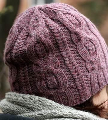 Модные вязанные шапки осень-зима 2019-2020 для женщин 7