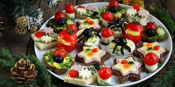 Новогодние канапе рецепты с фото простые и вкусные