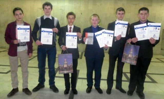 Победители школьной олимпиады Ломоносова